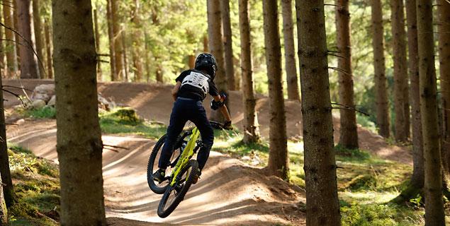 Mountainbike downhill Isaberg
